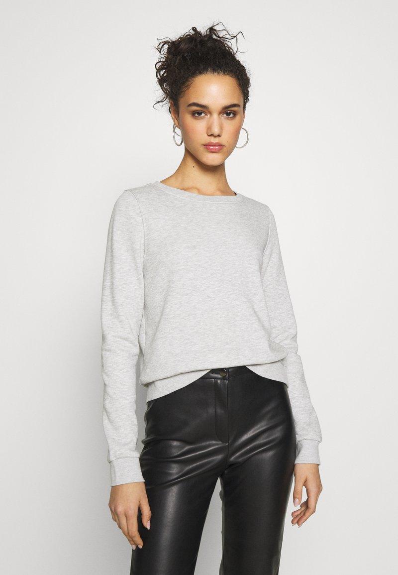 ONLY - ONLWENDY ONECK - Sweatshirt - light grey melange