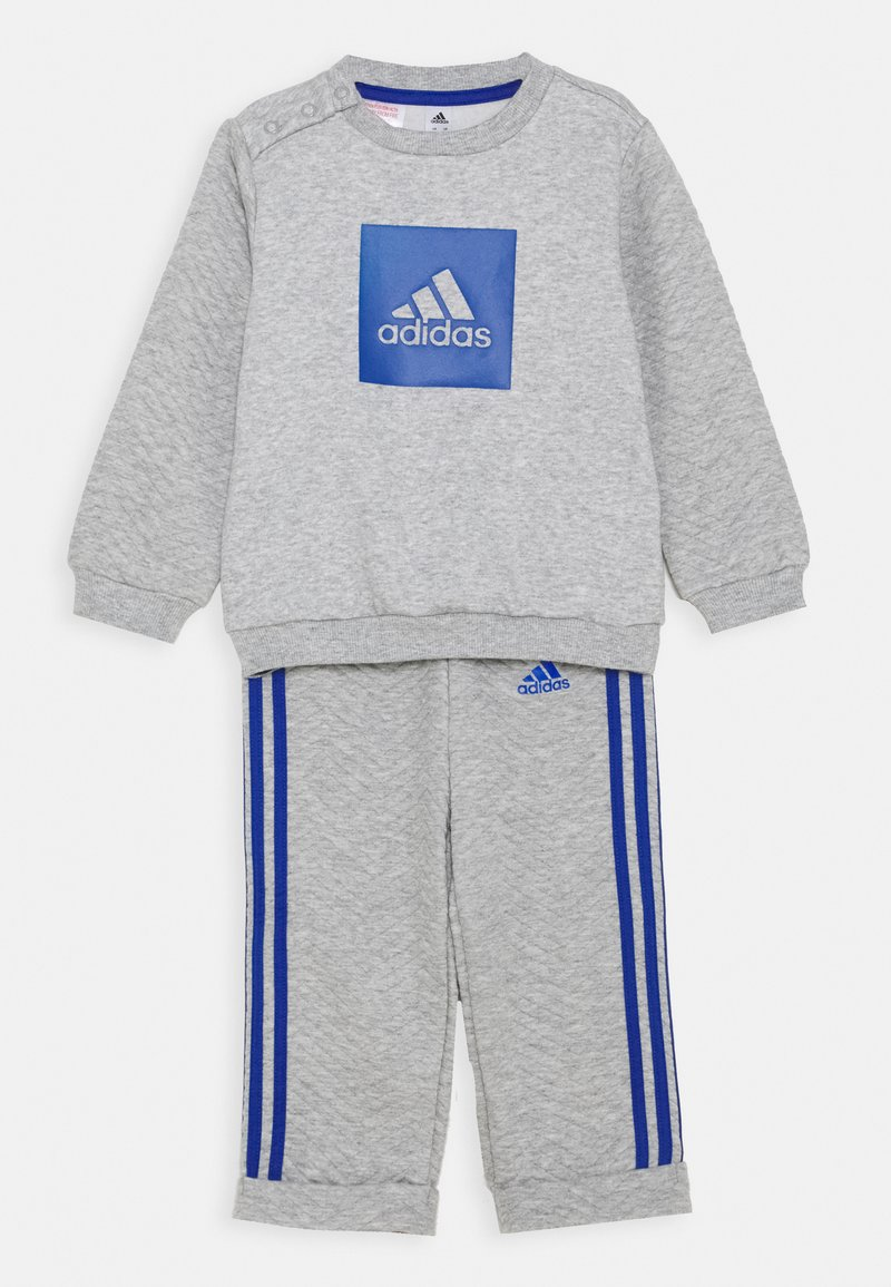 adidas Performance - FAVOURITES SET UNISEX - Tracksuit - medium grey heather/royal blue