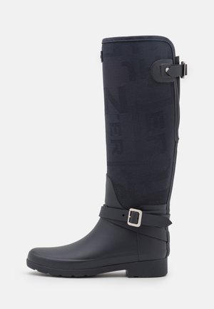 REFINED JACQUARD TALL VEGAN - Wellies - meadow navy
