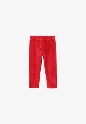CORD GESTRICKT FÜR BABY MÄDCHEN - Leggings - Trousers - ruby red