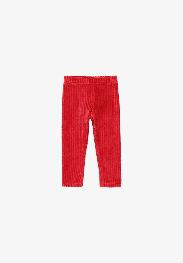 CORD GESTRICKT FÜR BABY MÄDCHEN - Legging - ruby red