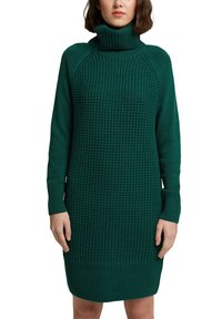 edc by Esprit - COWL NECK - Jumper dress - dark teal green - 5