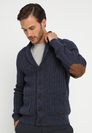 Strickjacke - mottled blue