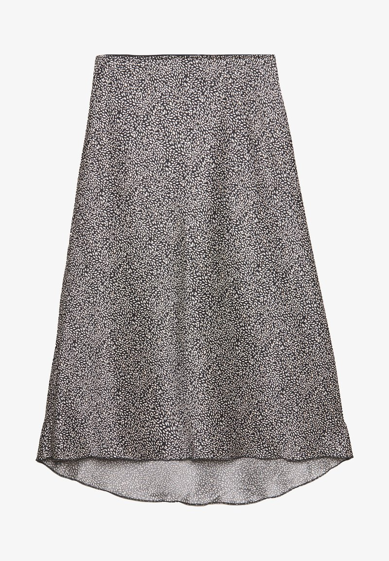 Abercrombie & Fitch - HIGH LOW MIDI SKIRT - A-line skjørt - black