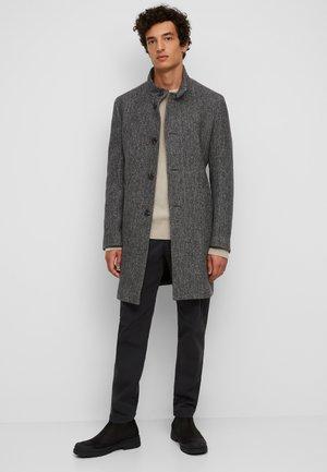 MIT ABZIPPBAREM INLAY - Classic coat - dark grey melange