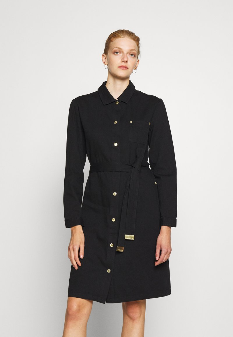 Barbour International - MINATO DRESS - Denim dress - black
