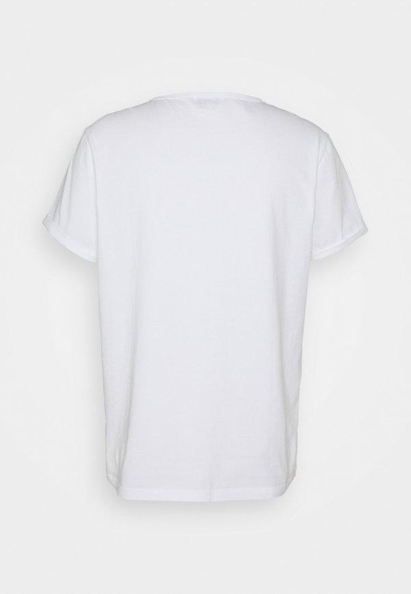Maison Labiche CLASSIC TEE - T-shirt z nadrukiem - white/biały Odzież Męska ZYKF