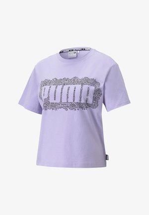 Print T-shirt - purple rose