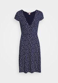 Anna Field - Jersey dress - maritime blue/white - 5