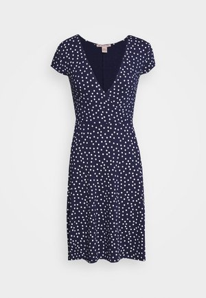Jersey dress - maritime blue/white