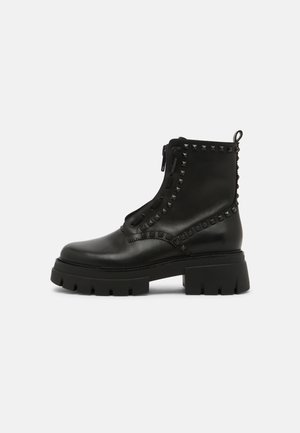 LYNCH STUDS - Lace-up ankle boots - black