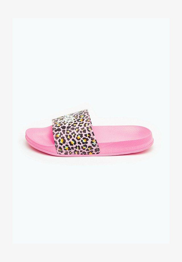 DISCO LEOPARD - Pool slides - pink