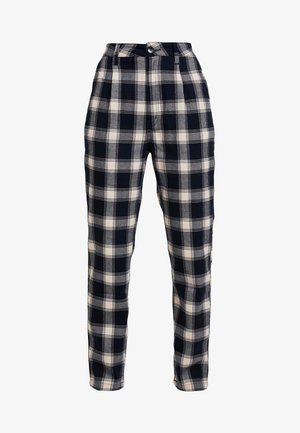 HORIZON CHECK PANT - Trousers - navy/cream