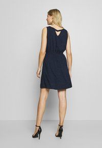 TOM TAILOR DENIM - DRESS WITH EMBROIDERY - Day dress - navy - 2