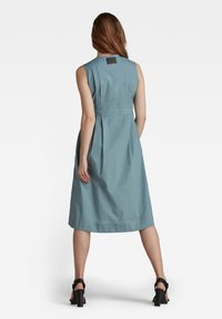 G-Star - FIT AND FLARE - Shirt dress - light bright nickel - 1