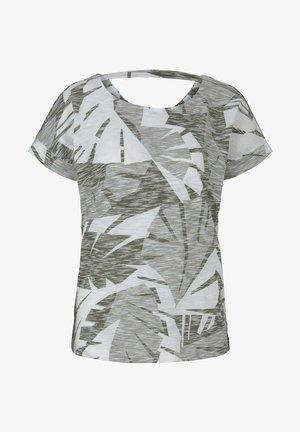 T-shirt con stampa - green botanical design