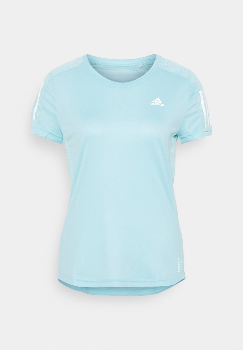 adidas Performance - OWN THE RUN TEE - Print T-shirt - hazy sky