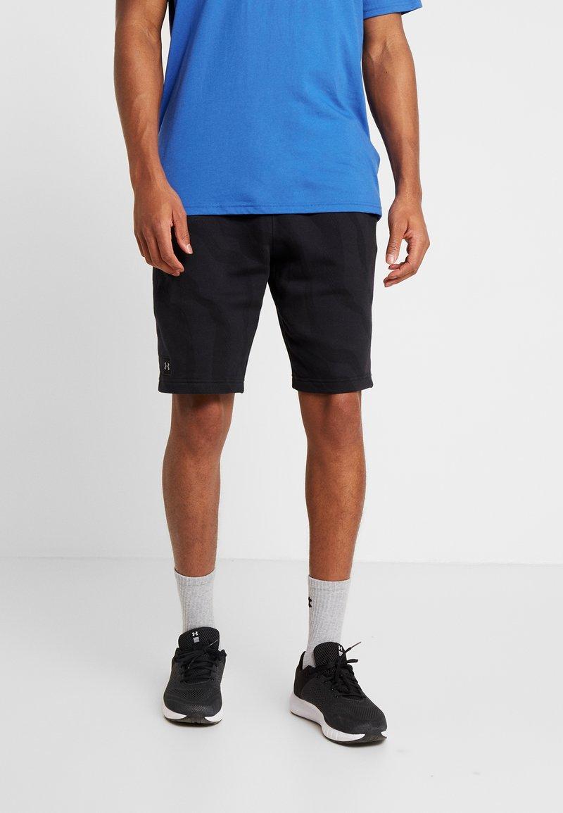 Under Armour - RIVAL SHORT PRINTED - kurze Sporthose - black