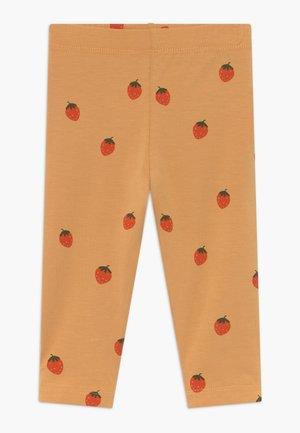 STRAWBERRIES PANT - Legging - toffee/red