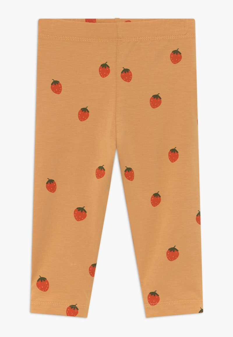 TINYCOTTONS - STRAWBERRIES PANT - Legíny - toffee/red