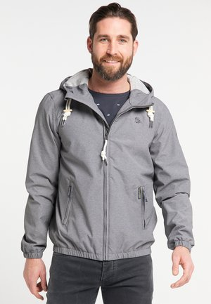 Waterproof jacket - grey melange