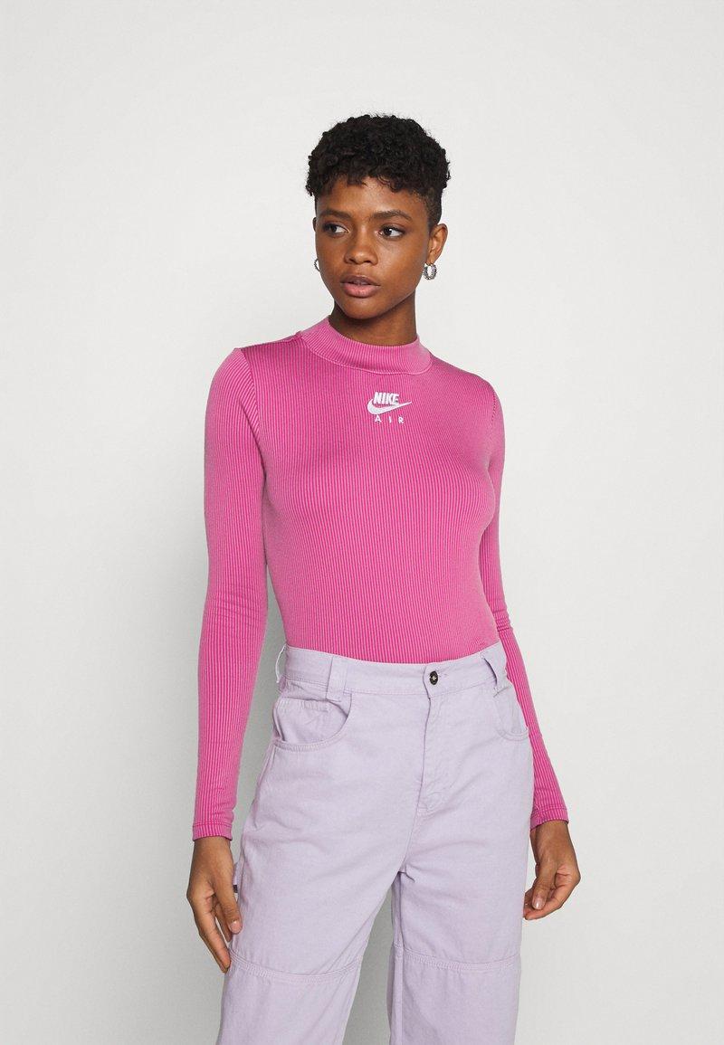 Nike Sportswear - AIR MOCK - Long sleeved top - purple smoke/fireberry/white