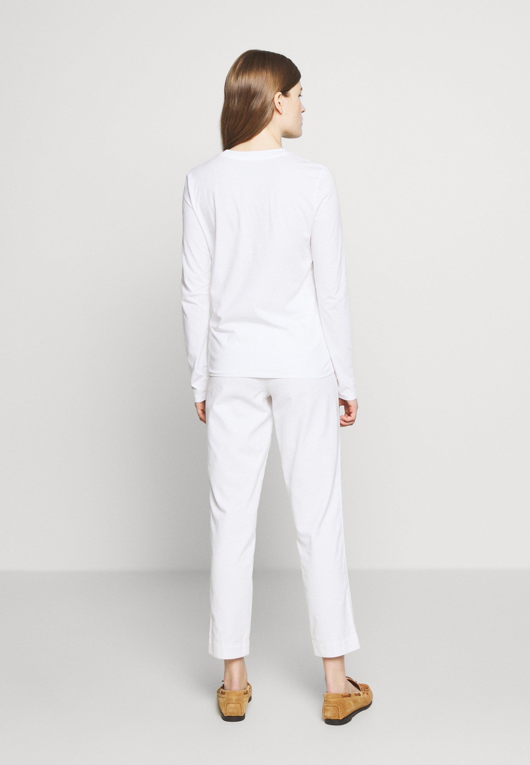 Polo Ralph Lauren SASH BEAR LONG SLEEVE - Topper langermet - white