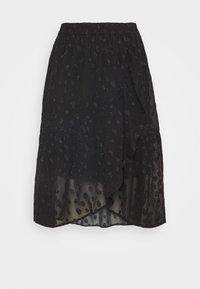PCPERSILLA MIDI SKIRT - Áčková sukně - black