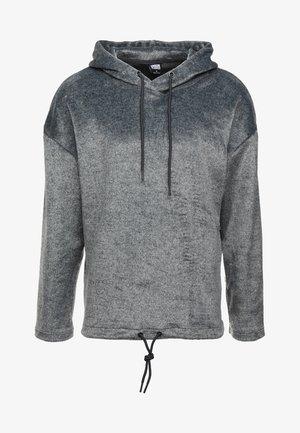 OVERSIZE HOODY - Felpa con cappuccio - black/grey