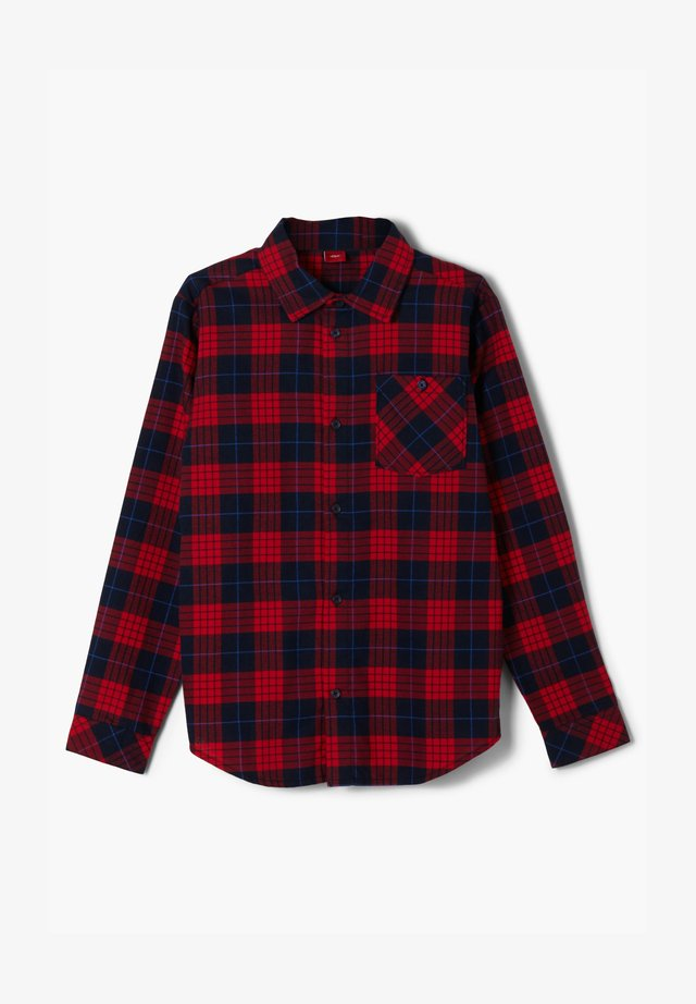 Shirt - dark blue check