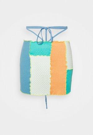 PANELLED MINI SKIRT WITH KNICKER DETAIL  - Mini skirt - blue/ green/ orange