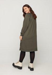 Zizzi - Jersey dress - green - 2