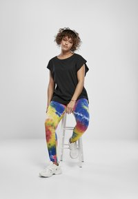 Urban Classics - TIE DYE HIGH WAIST  - Leggings - Trousers - royalblue/brightyellow - 1