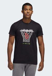 adidas Performance - DAME LOGO T-SHIRT - Print T-shirt - black - 0