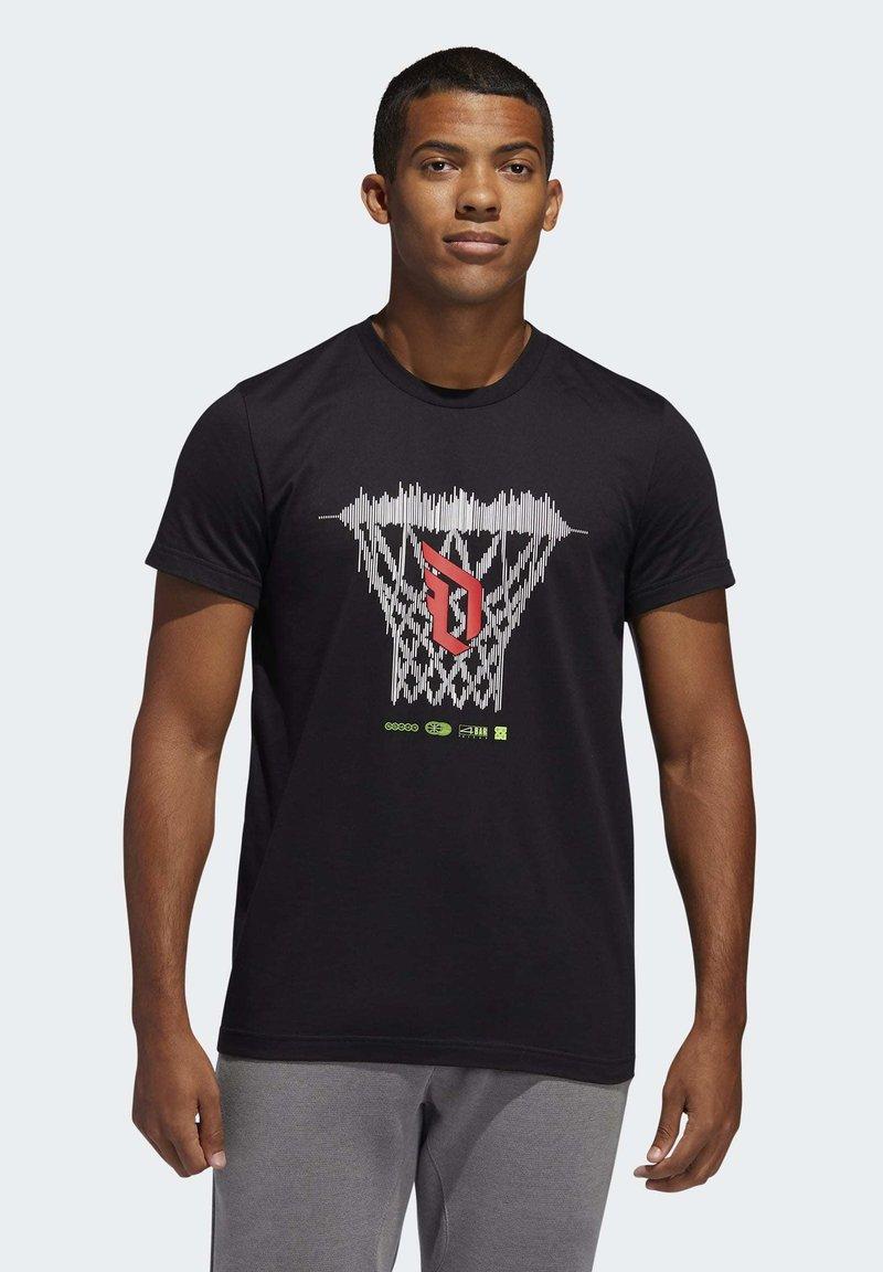 adidas Performance - DAME LOGO T-SHIRT - Print T-shirt - black