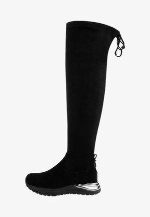 VENZONE - Kozačky nad kolena - black
