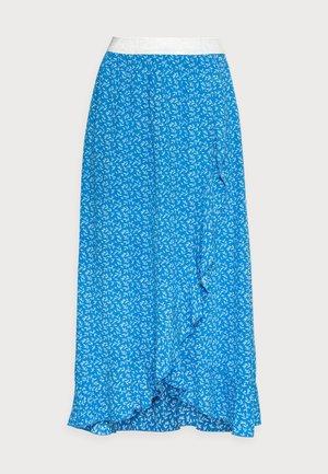 SKIRT RUFFLE SUMMER LEAF - A-line skirt - blue