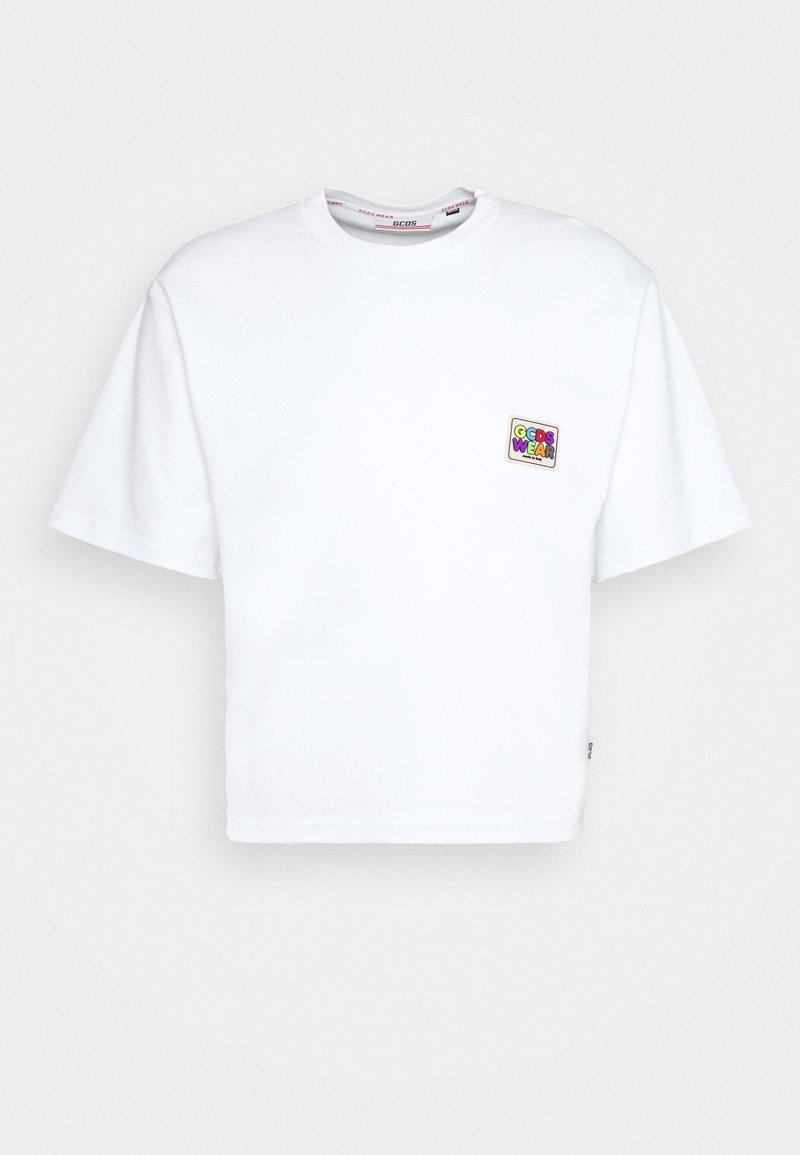 GCDS - CROP TEE - T-shirt basique - white