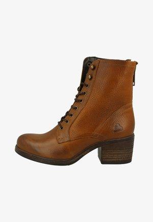 Lace-up ankle boots - tan/cognac