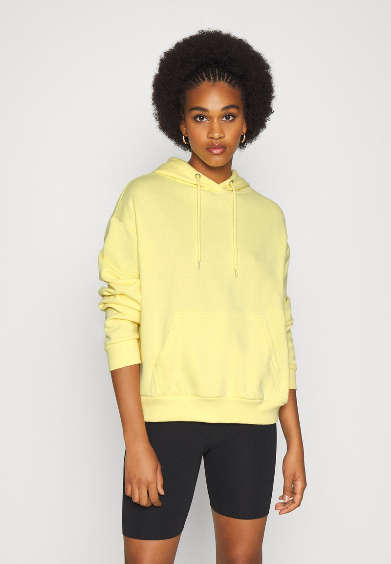 Even&Odd - BASIC OVERSIZED HOODIE WITH POCKET - Jersey con capucha - light yellow
