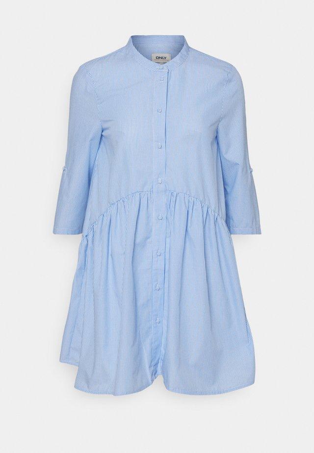 ONLCHICAGO LIFESTRIPE DRESS - Skjortekjole - white/blue