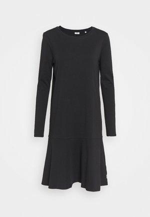 LONGSLEEVE DRESS - Žerzejové šaty - black