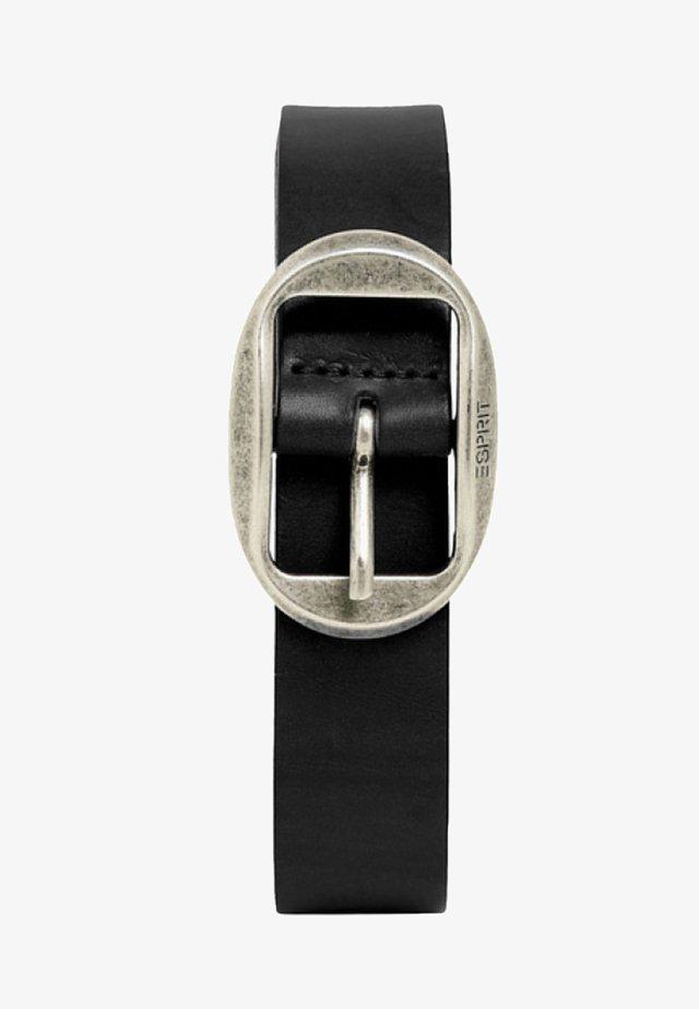 MIT VINTAGE-SCHNALLE, AUS LEDER - Belt - black
