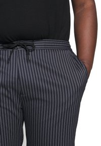 Topman - STRIPE WHYATT - Trousers - dark blue/white - 5