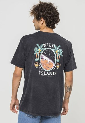 CAMISETA TIE DYE WILD ISLAND - Print T-shirt - tie dye black