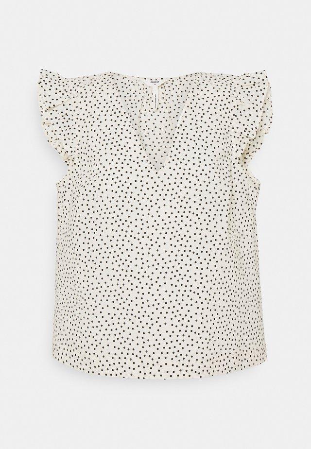 OBJNOUR - T-shirt print - sandshell