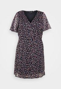 Vero Moda Curve - VMKAY WRAP DRESS  - Day dress - navy blazer - 3
