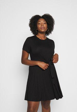 TIE WAIST DRESS - Jersey dress - black