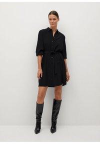 Mango - LEANDRA - Shirt dress - černá - 1