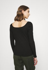 Vila - VILANA SQUARE NECK - Long sleeved top - black - 2
